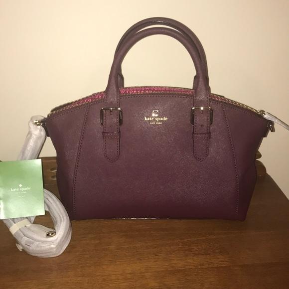 kate spade Handbags - Kate Spade small Sloan Charlotte street mulledwine